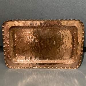 Early 20th Century Hammered Copper Tray
