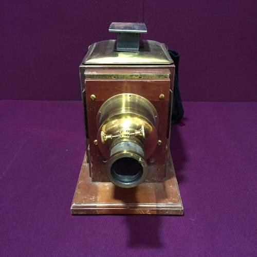 Victorian Mahogany and Brass Camera image-2