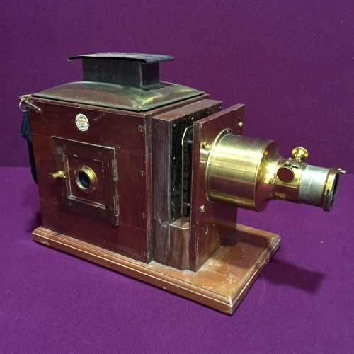 Victorian Mahogany and Brass Camera image-1
