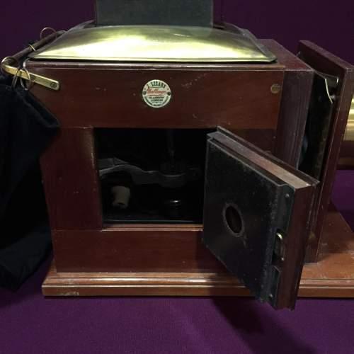 Victorian Mahogany and Brass Camera image-5