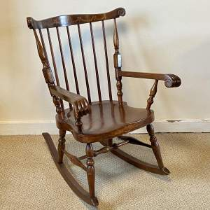 Early 20th Century Inlaid Rocking Chair
