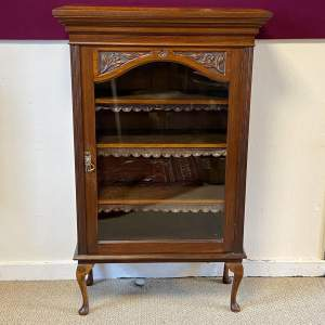 Late Victorian Mahogany Bookcase Display Cabinet