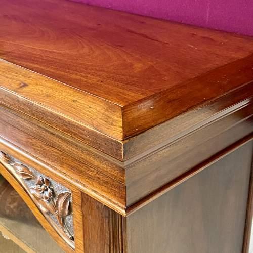 Late Victorian Mahogany Bookcase Display Cabinet image-5