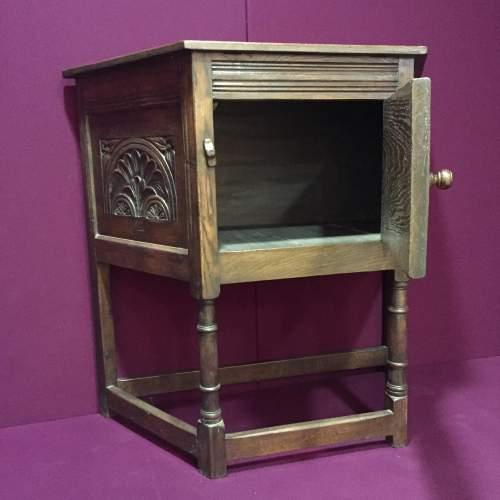Solid Oak Carved Cupboard image-2