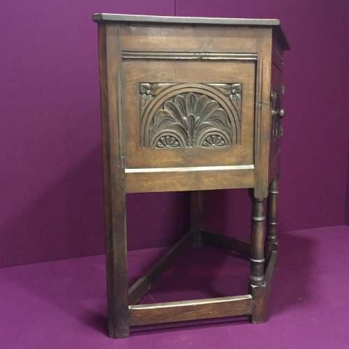 Solid Oak Carved Cupboard image-3
