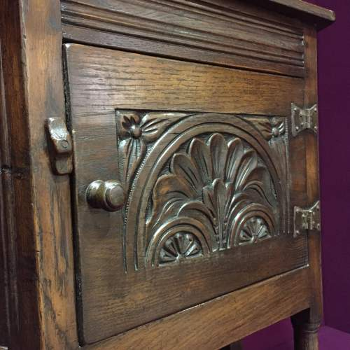 Solid Oak Carved Cupboard image-6
