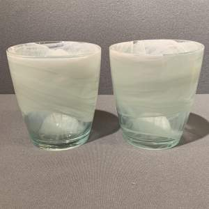 Pair of Kosta Boda Art Glass Vases