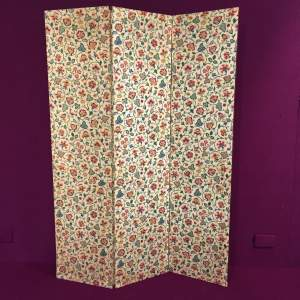 Three Panelled Folding Dressing Screen