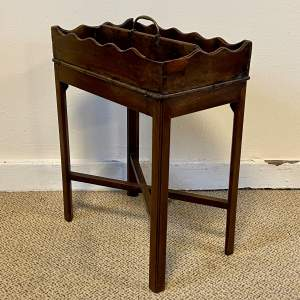 Early 19th Century Mahogany Cutlery Box on Stand