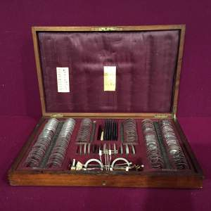 Early 20th Century Opticians Case With Instruments and Lenses