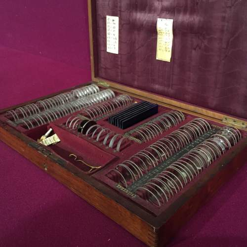Early 20th Century Opticians Case With Instruments and Lenses image-3
