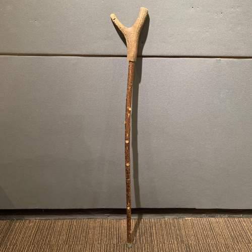 Vintage Stag Antler Thumb Stick image-1