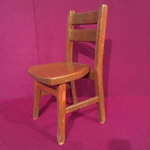 Vintage Beech School Chair