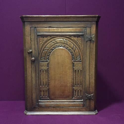 Solid Oak Corner Cabinet image-1