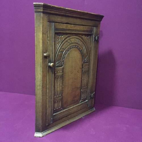 Solid Oak Corner Cabinet image-3