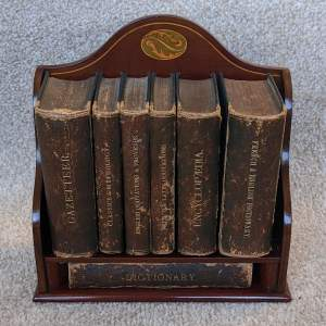 Houghton and Gunn (Asprey) Mahogany Library Book Rack with Books