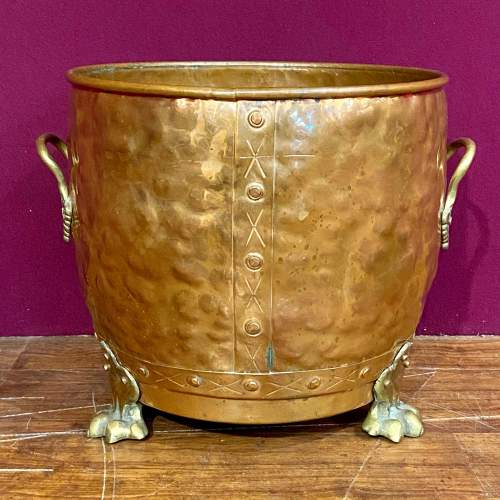 19th Century Copper Coal Bucket image-2