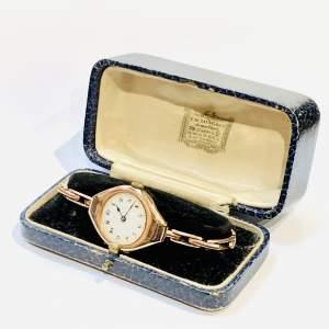 Antique Ladies Gold Wristwatch
