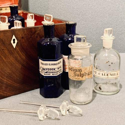 Antique Military Apothecary Cabinet image-6