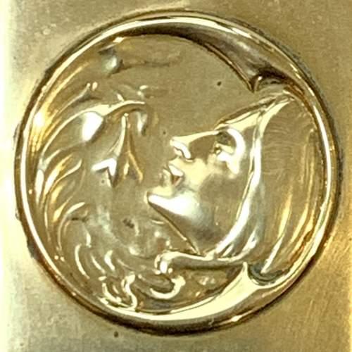 Art Nouveau Decorated Brass Match Box Cover image-4