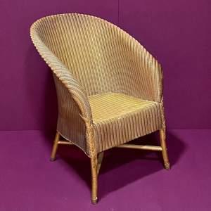 Lloyd Loom Gold Coloured Chair