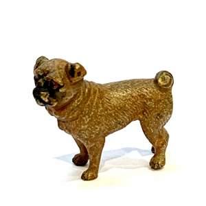 Cold Painted Miniature Pug Dog