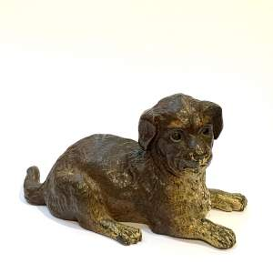 Austrian Cold Painted Bronze Dog