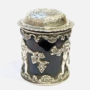 Edwardian Silver and Tortoiseshell Pot
