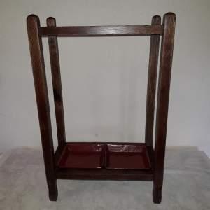 Vintage Oak Stick or Umbrella Stand