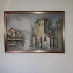 Impressionist Oil on Canvas Signed Kressley