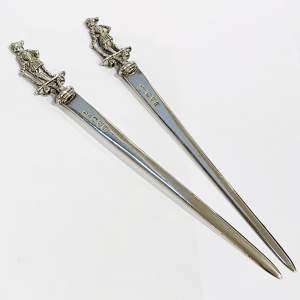 Victorian Chester Silver Meat Skewers