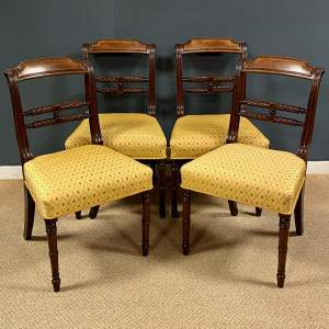 Set of Four Regency Period Mahogany Dining Chairs