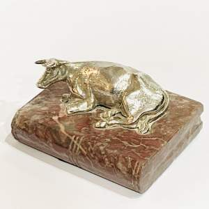 Georgian Silver Cow Paper Weight