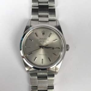 Vintage Gents 1990 Rolex Air King 14000 Silver Dial with Box