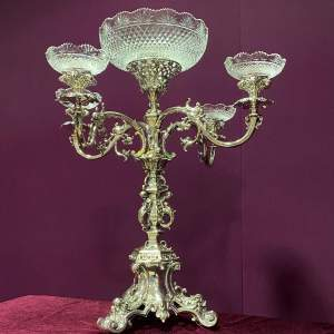 Stunning Large Victorian Silver Plated Centrepiece
