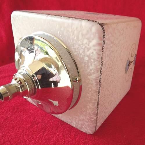 Original 1920s Art Deco Square Glass Hall Lantern Shade image-6