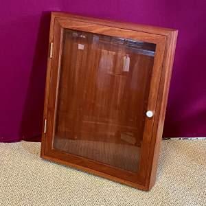 20th Century Mahogany Display Case