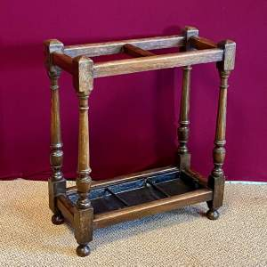 19th Century Oak Jointed Stick Stand