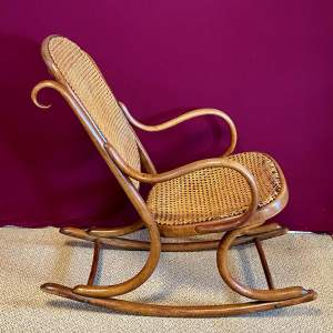 Early 20th Century Bentwood Rocking Chair