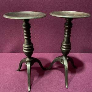 Late 19th Century Pair of Bronze Stands
