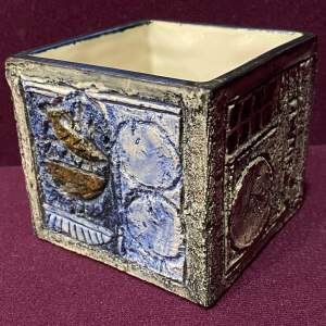 Troika Pottery Cube Vase