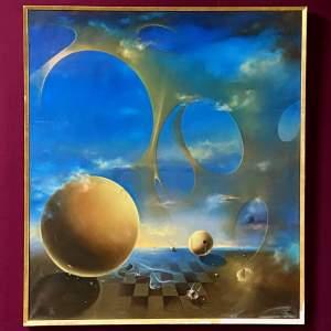 1960s Surrealist School Oil on Canvas
