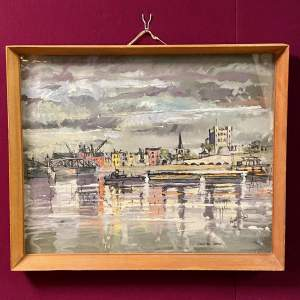 1960 Rochester Castle Oil Painting
