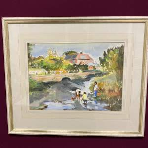 Countryside Watercolour by Brewster