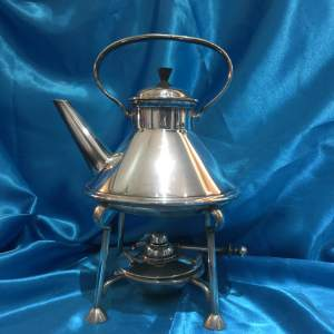 Arts and Crafts Silver Plated Spirit Kettle