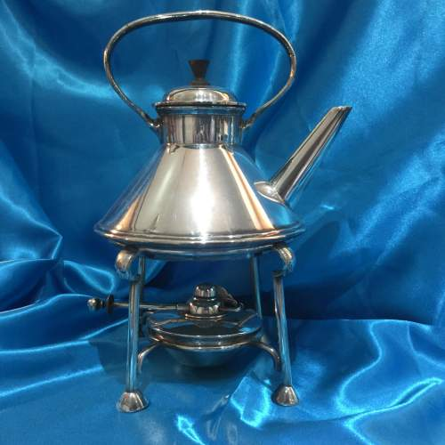 Arts and Crafts Silver Plated Spirit Kettle image-2
