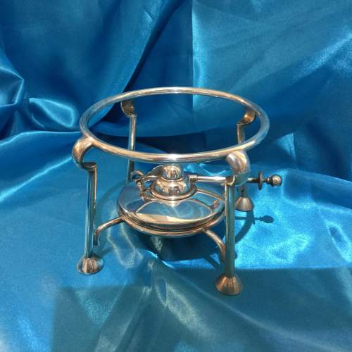 Arts and Crafts Silver Plated Spirit Kettle image-3