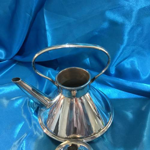 Arts and Crafts Silver Plated Spirit Kettle image-4