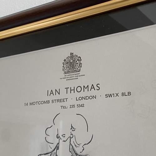 Original Fashion Drawing by Ian Thomas - dressmaker for the Royal Family image-4
