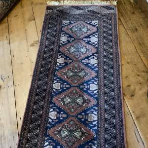 Superb Quality Hand Knotted Bokhara Runner Repeating Medallion